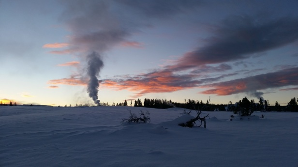 old-faithful-sunrise