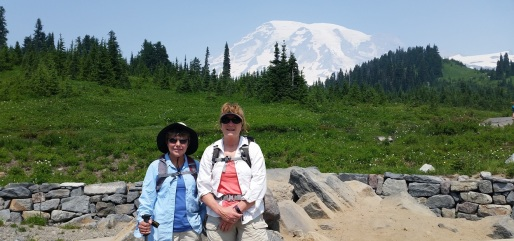 Mt Rainier Patty and Kristin