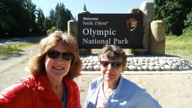 Patty and Kristin in Olympic National Park