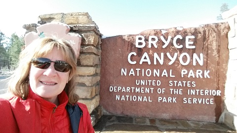 PK at the entrance to Bryce