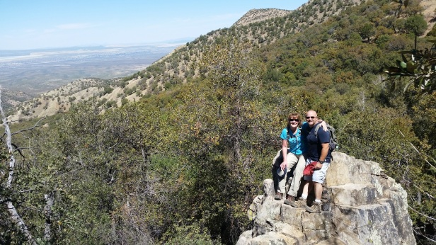 Patty and Jeremy in Madera Canyon - Santa Rita Mountains, Coronado National Forest, Tucson AZ