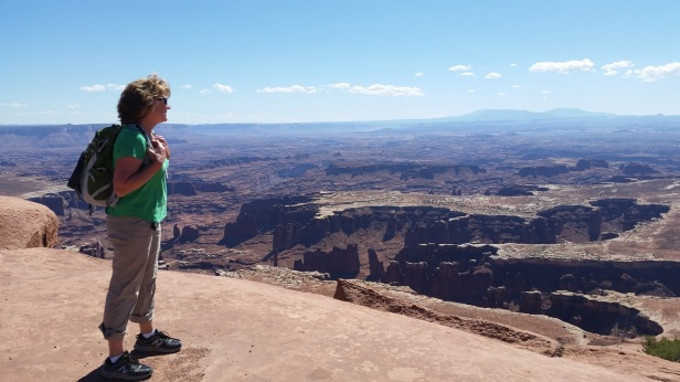 Patty overlooking Canyonlands National Park