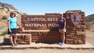 Patty and Kristin at Capitol Reef National Park