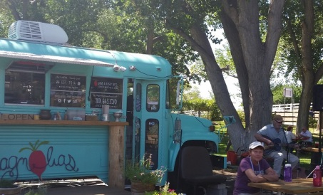 Food Truck located in the Anasazi State Park Museum parking lot. Great food!!