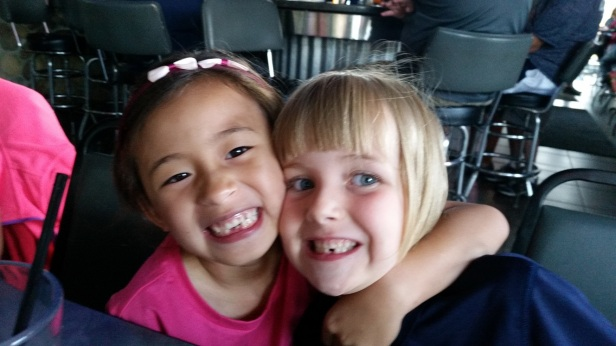My grand daughters Lola and Lily