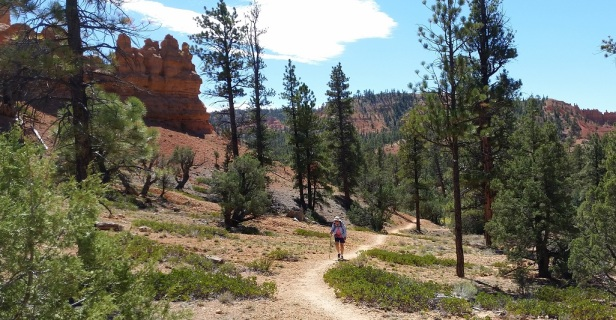 Kristin Hiking in Red Canyon - Grand Staircase-Escalante National Monument