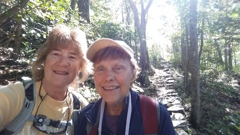 PK and Kristin on App trail