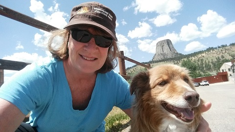 Patty and Rae at Devils Tower